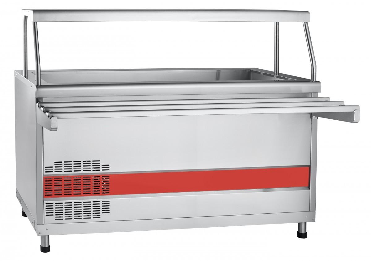 Прилавок холодильный ПВВ(Н)-70КМ-03-НШ вся нерж. с ванной, нейтральный шкаф
