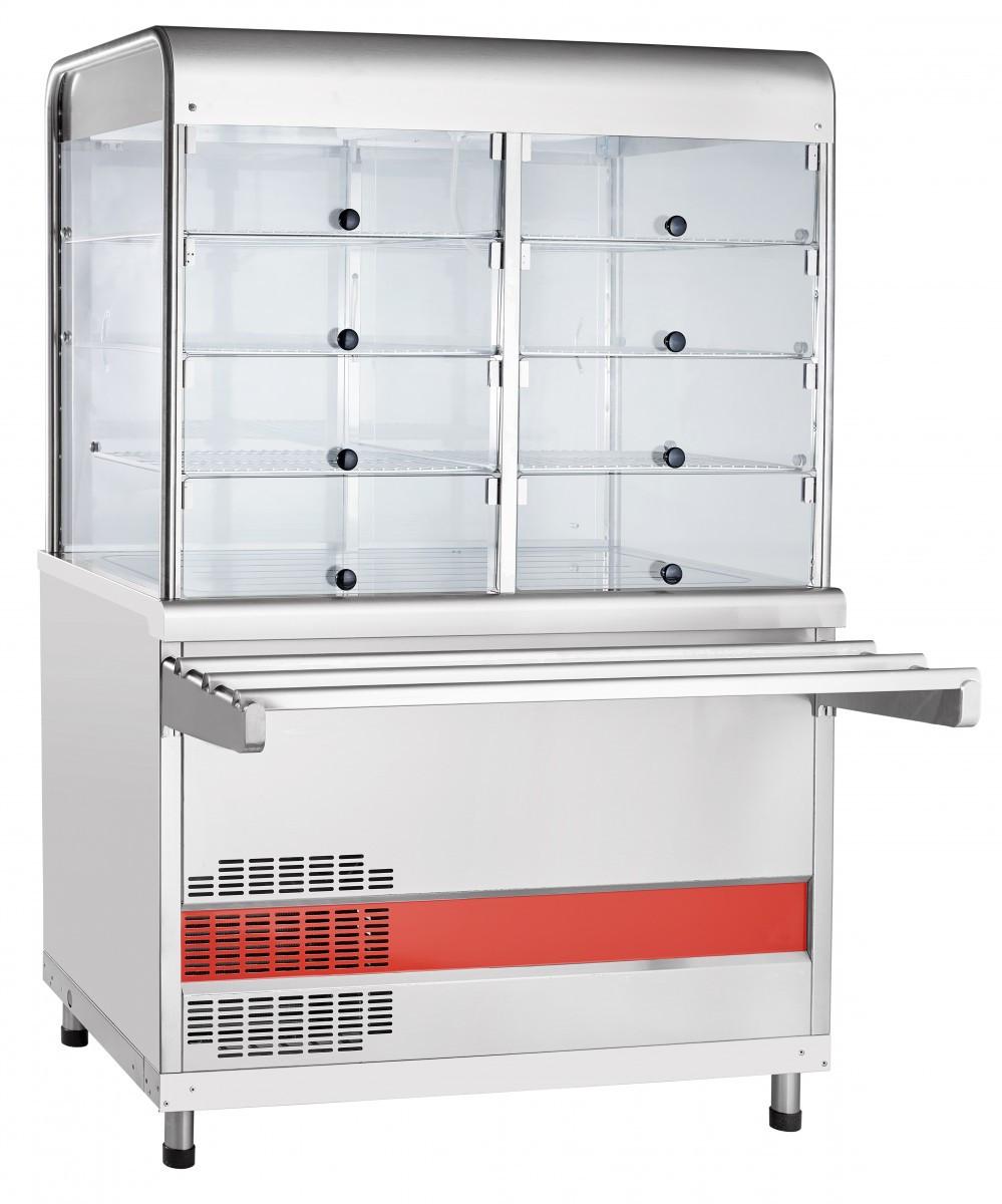 Прилавок-витрина холодильный ПВВ(Н)-70КМ-С-НШ вся нерж. плоский стол
