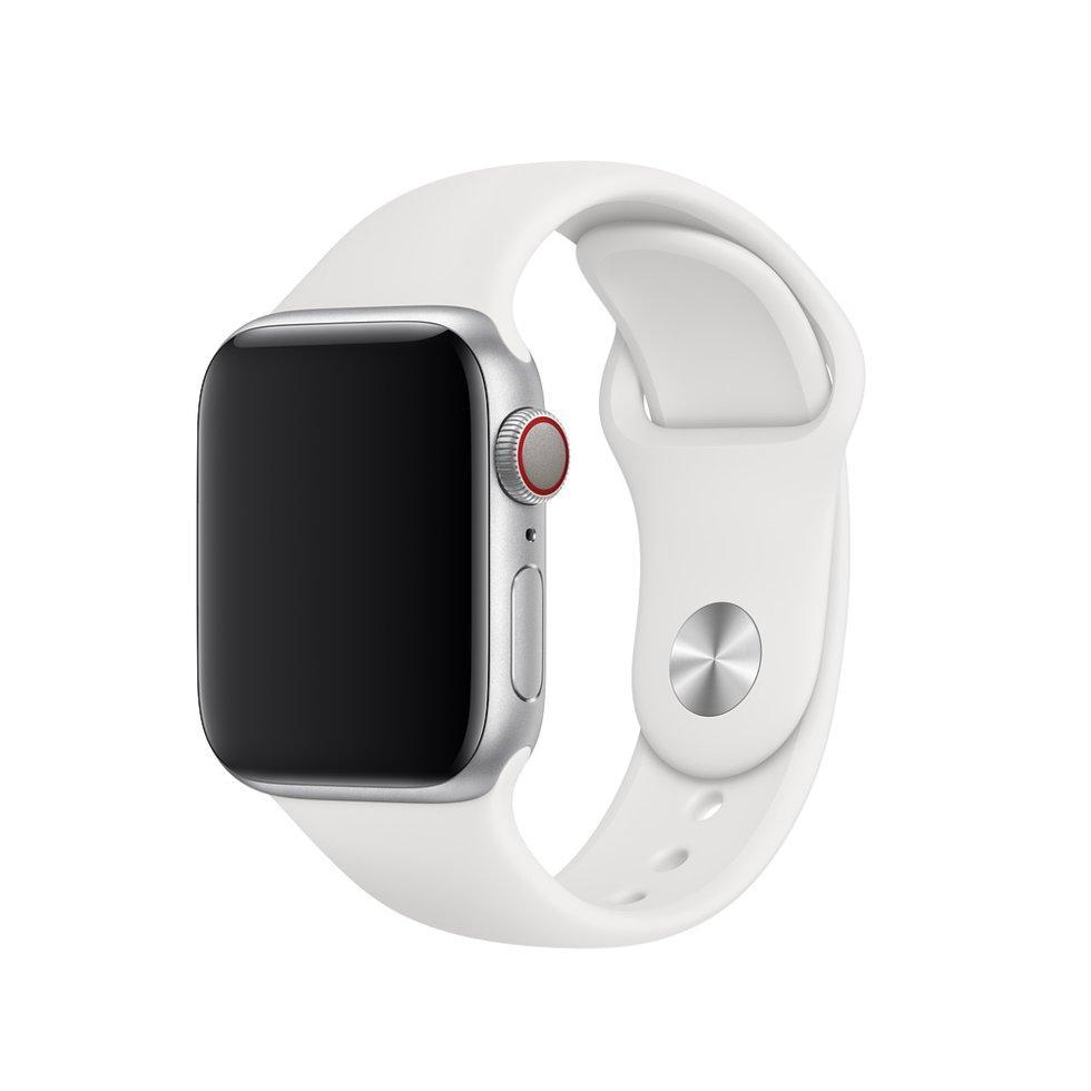 Браслет/ремешок для Apple Watch 40мм, размеры S/M и M/L, спортивный, белый (MTP52ZM/A)