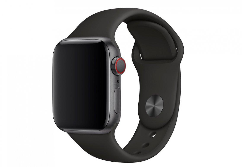 Оригинальный браслет/ремешок для Apple Watch 40мм, размеры S/M и M/L, спортивный, черный (MTP62ZM/A)