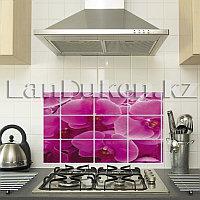 Кухонная наклейка на кафельную плитку 75x45 розовые цветы TL-204