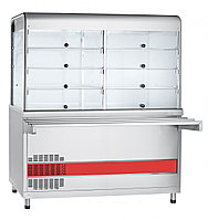 Прилавок-витрина холодильный ПВВ(Н)-70КМ-С-01-НШ вся нерж. плоский стол