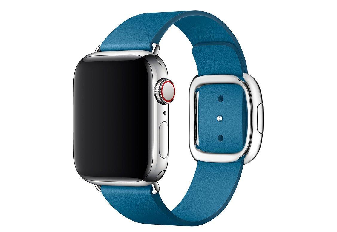 Браслет/ремешок для Apple Watch 40мм, с современной пряжкой, размер L, «лазурная волна» (MTQN2ZM/A)