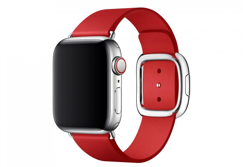 Браслет/ремешок для Apple Watch 40мм, с современной пряжкой, размер M, красный (MTQU2ZM/A)