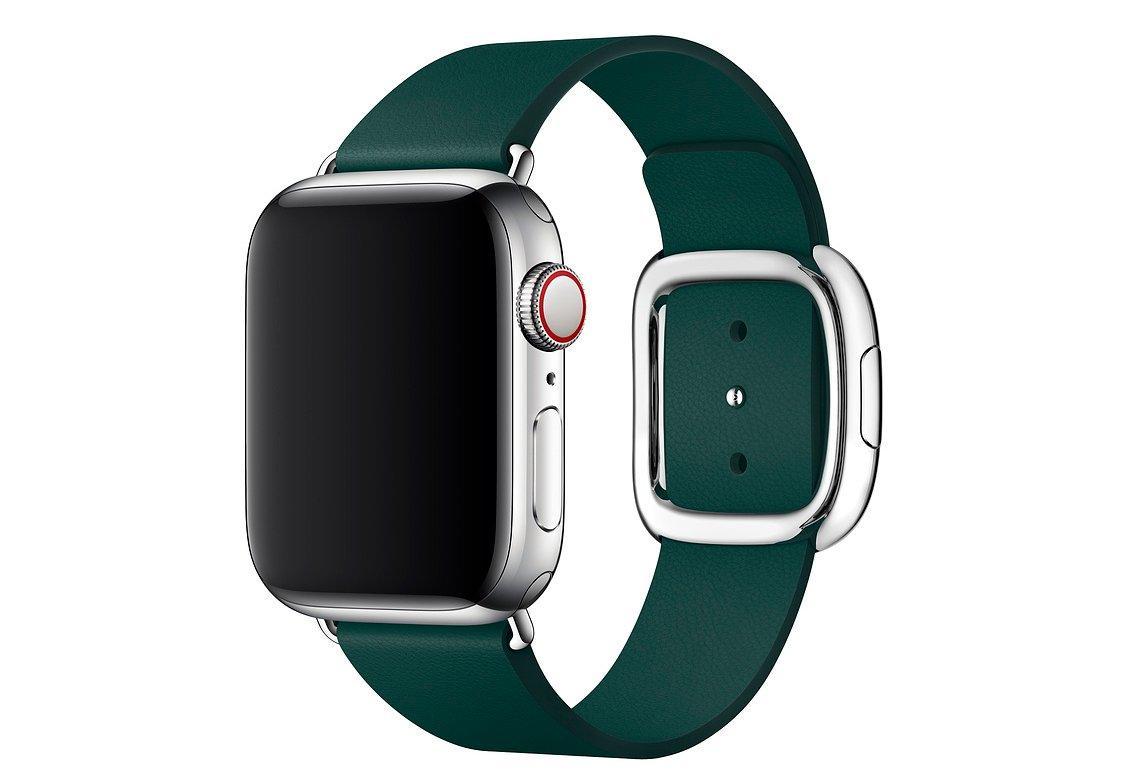 Оригинальный браслет/ремешок для Apple Watch 40мм, с современной пряжкой, размер S, «зелёный лес» (MTQH2ZM/A)