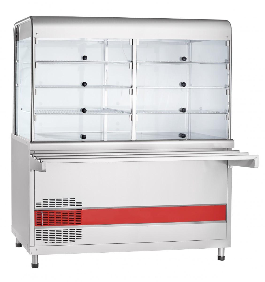 Прилавок-витрина холодильный ПВВ(Н)-70КМ-С-01-ОК с охлаждаемой камерой (саладэт закрыт.,1500 мм)