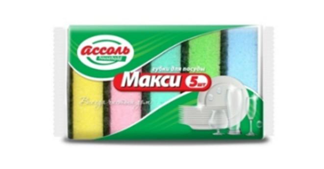 """Губки для посуды поролоновые """"Макси"""" 5 шт (105х75х30)"""