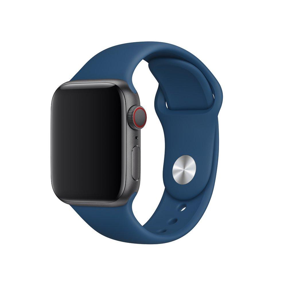 Оригинальный браслет/ремешок для Apple Watch 44мм, размеры S/M и M/L, спортивный, «морской горизонт» (MTPR2ZM/A)