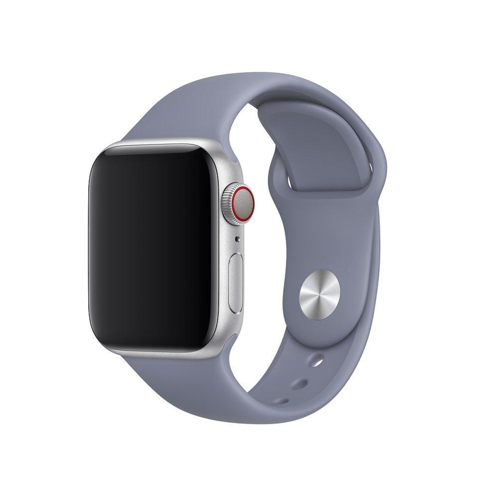 Браслет/ремешок для Apple Watch 44мм, размеры S/M и M/L, спортивный, «тёмная лаванда» (MTPP2ZM/A)