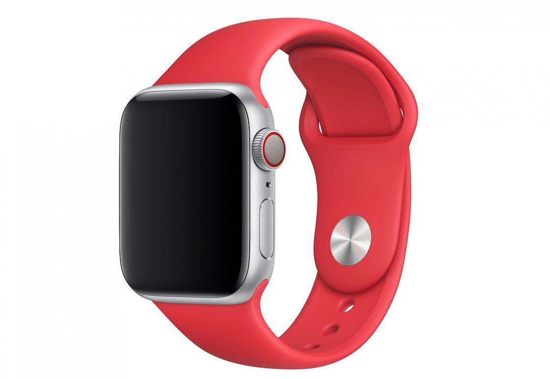 Браслет/ремешок для Apple Watch 44мм, размеры S/M и M/L, спортивный, красный (PRODUCT) RED (MU9N2ZM/A)