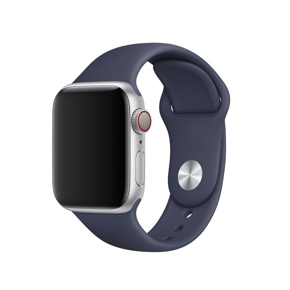 Оригинальный браслет/ремешок для Apple Watch 44мм, размеры S/M и M/L, спортивный, тёмно-синий (MTPX2ZM/A)