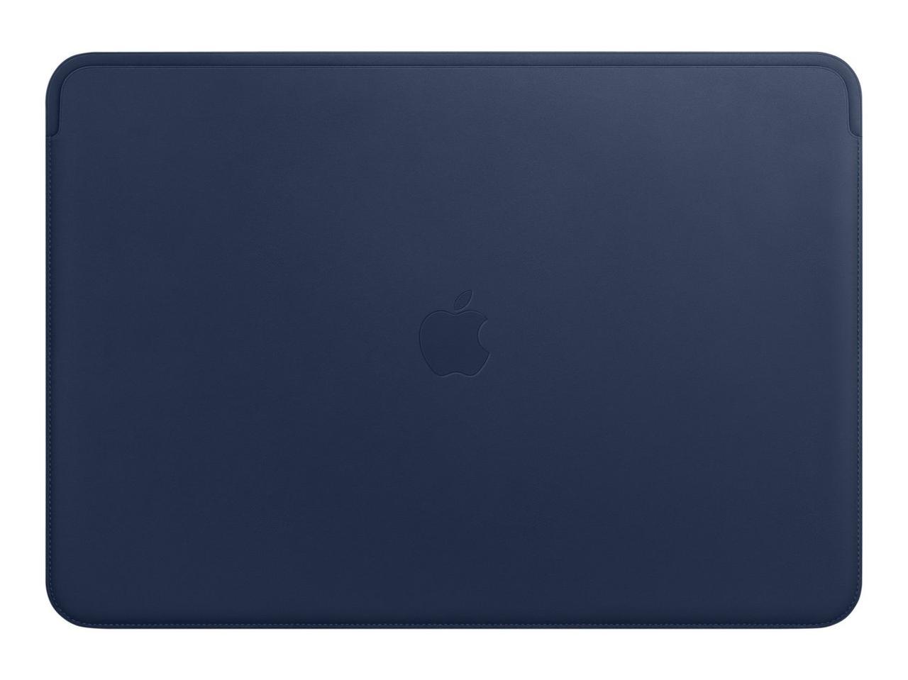 "Чехол для MacBook 15"" Apple Leather Sleeve, тёмно-синий (MRQU2ZM/A)"
