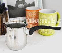 Турка для кофе стального цвета (720мл) 009