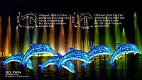 Купить Акриловая световая фигура дельфин 80Х130, 95X130 см в Алматы