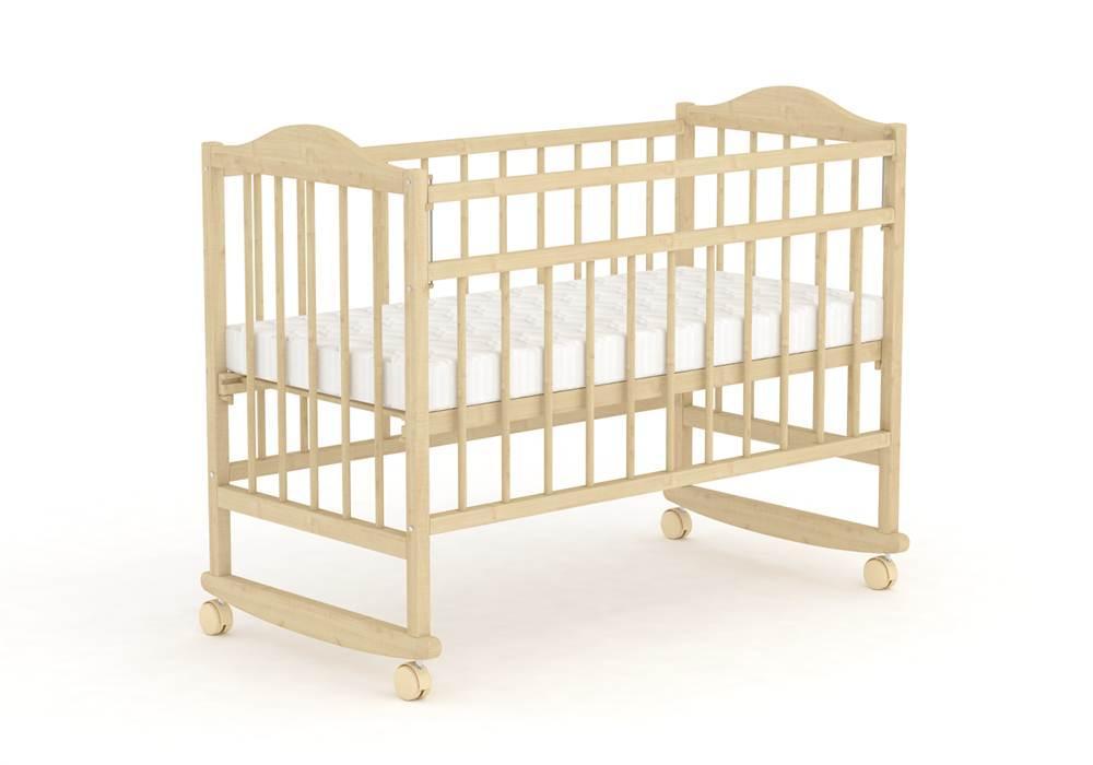Детская кроватка Фея 204 колеса Натуральный