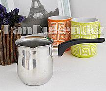 Турка для кофе стального цвета (540мл) 008