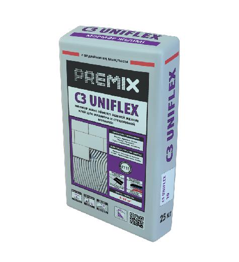 Клей плиточный Premix C3 Uniflex White 25 кг PremixPRO
