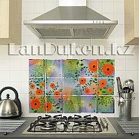Кухонная наклейка на кафельную плитку 75x45 цветочный принт TL-288