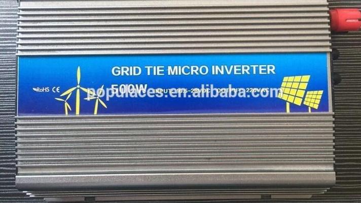24 В grid tie Инвертор 500 Вт для солнечной панели, фото 2