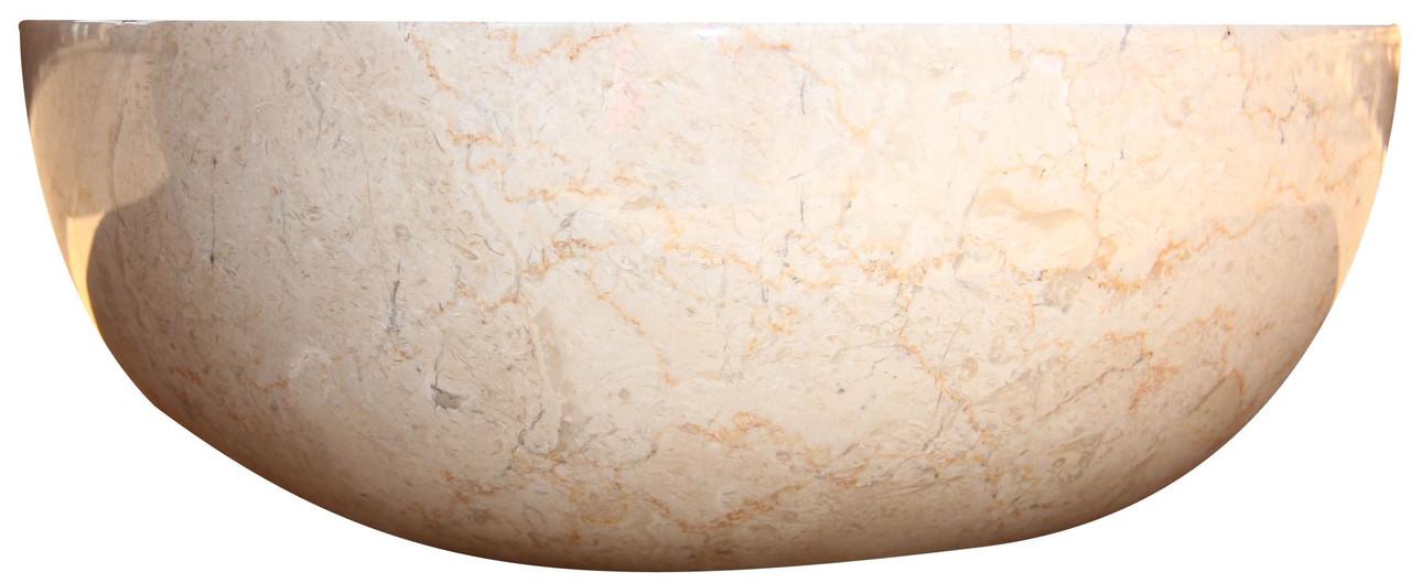 Раковина мрамор Gemma 501 Marble Cream 40*40*15