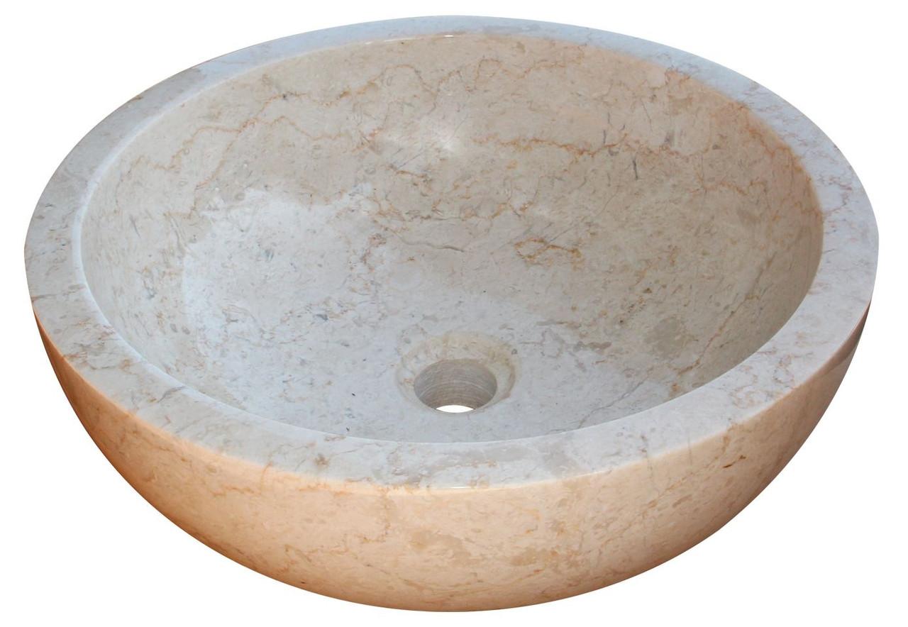 Раковина мрамор Gemma 501 Marble Cream 45*45*17