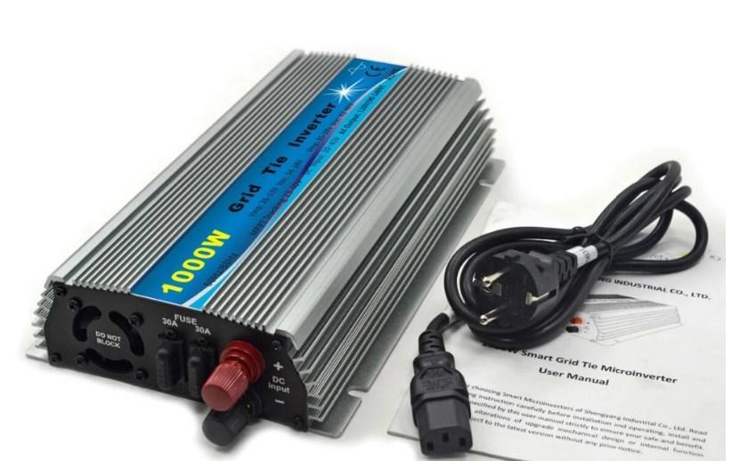 На сетке галстук инвертора 1KW Чистая синусоида Инвертор DC 10.5-28 В AC 220 В 1000 Вт