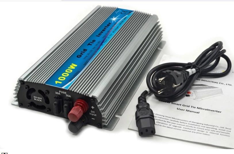 Вход 20-45 В DC 1KW Солнечной Сетка Tie Micro инверторы 1000 Вт MPPT функции 110 В или 220 В выход для домашне