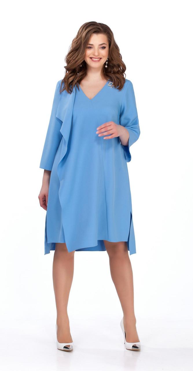 Платье TEZA-102/5, светло синий, 50