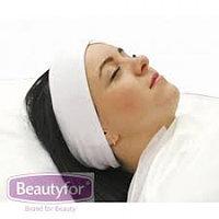 Лента махровая для волос Beautyfor на липучке, белая