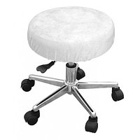 Чехол велюровый на стул мастера, белый, Beautyfor