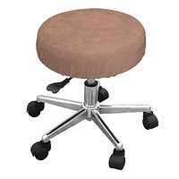 Чехол велюровый на стул мастера,коричневый, Beautyfor