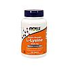 Лизин Now Foods - L-Lysine 1000 мг, 100 таблеток