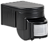 Датчик движения ДД 012 черный, макс. нагрузка 1100Вт, угол обзора 180град., дальность 12м, IP44, ИЭК