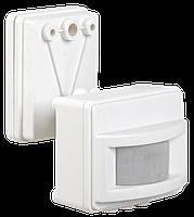 Датчик движения ДД 017 белый, макс. нагрузка 1100Вт, угол обзора 120град., дальность 12м, IP44, ИЭК