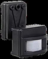 Датчик движения ДД 017 черный, макс. нагрузка 1100Вт, угол обзора 120град., дальность 12м, IP44, ИЭК