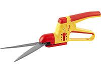 Ножницы GRINDA для стрижки травы,2-х комп пластмас ручки с защитой,поворот мех-м 180гр, 3-позиц регулировки