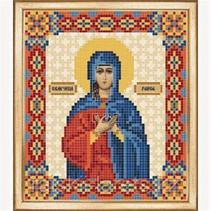СБИ-080 Схема для вышивания бисером Икона Святая мученица Раиса