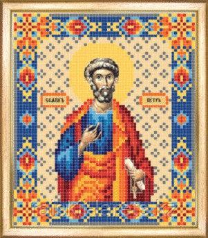 СБИ-045 Схема для вышивания бисером Именная икона Святой апостол Петр