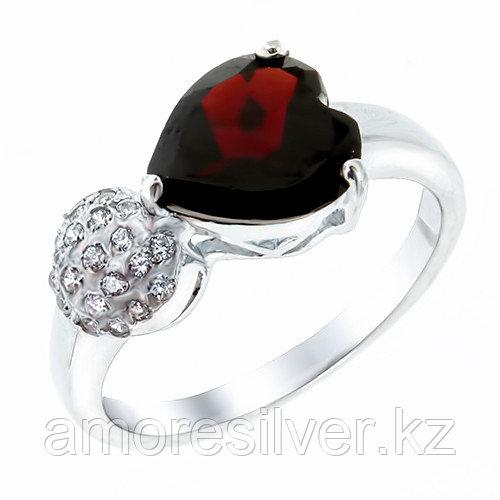 Серебряное кольцо с гранатом   Teosa DRGS00063-R-GR