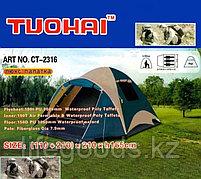 Трехместная палатка люкс двухслойная (110+210)х210х165см, Tuohai CT-2316