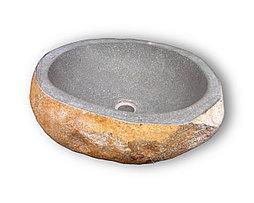 Раковина из речного камня Lavabo Batu Cut 30-40*40-50*17