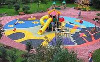 Монтаж резинового покрытия на детскую площадку