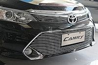 Передняя решетка нержавейка на Camry V55 2014-17