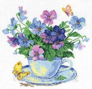 """Набор для вышивания крестиком """"Утренние цветы"""" 2-01"""