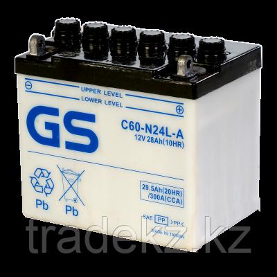 Аккумулятор GS Yuasa C60-N24L-A, фото 2
