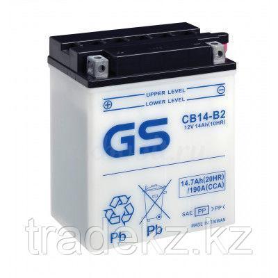 Аккумулятор GS Yuasa CB14-B2 new (+acidpack, в комплекте с электролитом), фото 2