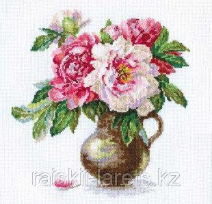 """Набор для вышивания крестиком """"Цветущий сад :Пионы"""" 2-21"""