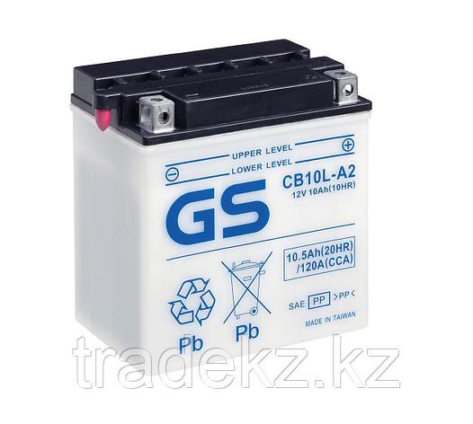 Аккумулятор GS Yuasa CB10L-A2 new (+acidpack, электролит в комплекте), фото 2