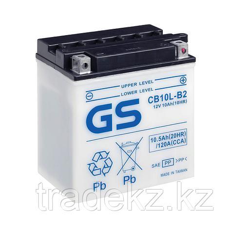Аккумулятор GS Yuasa CB10L-B2 new (+acidpack, электролит в комплекте), фото 2