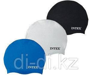 Силиконовая шапочка для плавания Intex Silicone Swim Cap (от 8 лет)